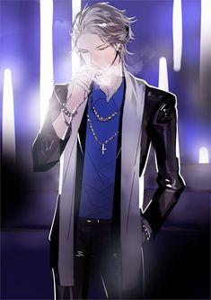 White Hair Anime Guy, Anime Long Hair, Dark Anime Guys, Anime Boys, Anime Fantasy, Dark Fantasy Art, Long White Hair, Ace Hood, 5 Anime