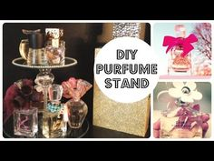 DIY PERFUME STAND THAT SPINS !!!! - YouTube
