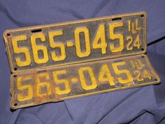 License Plates 1920s Vintage car plates Men's by LazyYVintage