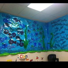 Ocean theme bulletin board I made.