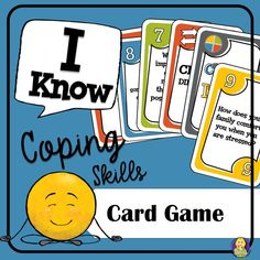 Coping Skills Card Game by Carol Miller -The Middle School Counselor Coping Skills Activities, Anxiety Coping Skills, Counseling Activities, Group Counseling, Teaching Resources, Middle School Counselor, Elementary School Counseling, School Social Work, Fun Card Games