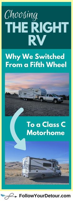 Choosing the right RV can be challenging. There are so many options...motorhome, fifth wheel, travel trailer, etc! Whether you are planning to buy an RV for full-time living or for road trips and camping, maybe our reasons for switching can help! We also have tips for purchasing an #RV Let us help you prepare for full-time RVing and the RV lifestyle! #RVing #RVlife #fulltimeRV #GoRVing #RVfulltime #RVlifestyle