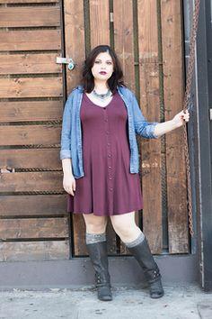 Plum Sophie Skater Dress ★available at www.livingdoll.la// plus size clothing!