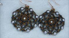 Tutorial orecchini Cinzia / incastonatura di una perla da 8mm+decorazione
