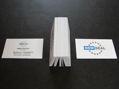 Projekt i druk - Wizytówki z lakierem wybiórczym.