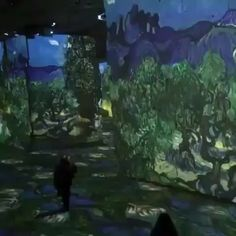 Van Gogh - The Starry Night, digital exhibition in the Atelier des Lumières, Paris. Starry Night Picture, Gogh The Starry Night, Amsterdam, Destinations, Komodo Dragon, Van Gogh Paintings, Vincent Van Gogh, Best Funny Pictures, Instagram
