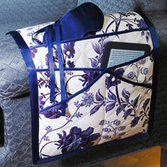 Floral Toile Bed Caddy and Eye Mask. A place for everything.. and everything in its place!