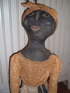 Black Folk Art Doll