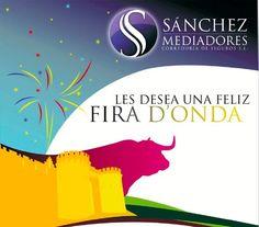 Anuncio para Sanchez Mediadores en la Feria de Onda