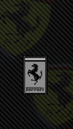 720 x 1280 Ferrari Logo on Carbon Fiber SemiBW