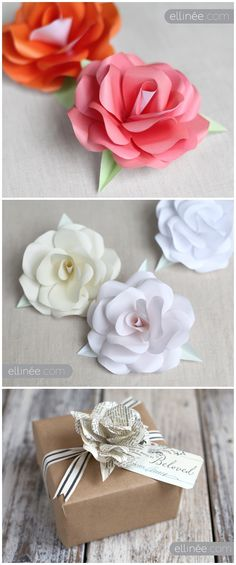 Just stunning..... ! * . * .♥ ♫~ DIY Paper Rose Templates by Lia Griffith - Ellinee ♥ . * .`•.