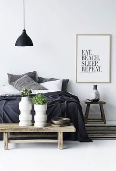 Eat Beach Sleep Repeat  Inspiring Print Decorative by HAUSOFPROSE
