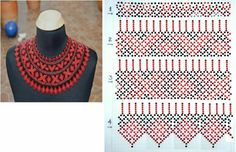 Смотри, как подсоединить нижние ряды к верхним. Beading Techniques, Beading Tutorials, Bead Jewellery, Beaded Jewelry, Native Beading Patterns, Beaded Collar, Collar Pattern, Tear, Loom Beading