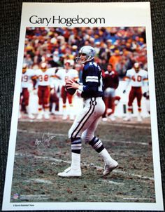 Rare GARY HOGEBOOM Dallas Cowboys 1984 Marketcom Sports Illustrated NFL Poster - Sold for $29.99 Oct 2013