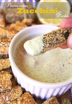 Baked Parmesan Zucchini Sticks | Sugar Apron