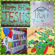 happy birthday Jesus - Sunday School party