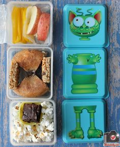 There is a Monster in my Lunch! Lunch is packed in our @Fit & Fresh @Build Healthy Kids  lunch box. By mamabelly.com