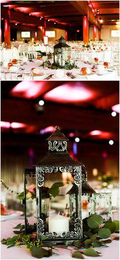 Centerpieces and rental lanterns by Minneapolis wedding florist Artemisia Studios. Photos by Hannah Schmitt Photography at A'BULAE. #minnesota #mnwedding #wedding #lanterns #weddingdecor #weddingreception #centerpieces #weddingrentals #artemisiastudios #minneapolisweddingflorist #saintpaulweddingflorist