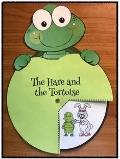 "Fables & Fairy Tales: Sequence & retell Aesop's ""The Tortoise & the Hare"" with this ""turtle topped"" storytelling wheel. Packet includes worksheets, & two other cover options. (See rabbit wheel also pinned.)"