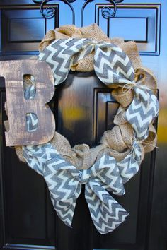 Burlap Wreath Wreaths Summer Wreaths for door by OurSentiments