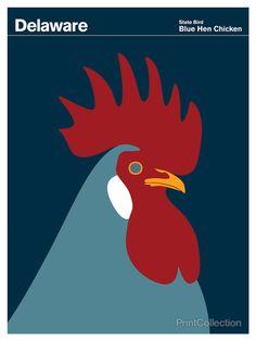 PrintCollection - Delaware Blue Hen Chicken