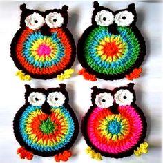 Crochet For Children: Hooty Owl Coasters