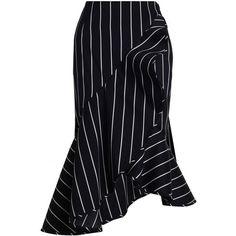 ZIMMERMANN Maples Collegiate Wrap Skirt (820 PLN) ❤ liked on Polyvore featuring skirts, bottoms, zimmermann, asymmetrical ruffle skirt, zipper skirt, high-waisted skirt and wrap front skirt