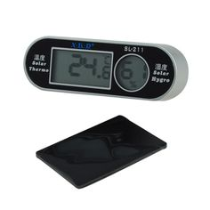 New LCD Digital Solar Thermometer Hygrometer Hygrothermograph Sensor - Black and Silver - http://ucables.com/product/new-lcd-digital-solar-thermometer-hygrometer-hygrothermograph-sensor-black-and-silver/