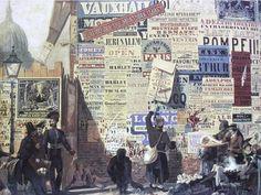 Bill Stickers: London Street Scene of the by John Parry Victorian Street, Victorian Life, Hidden London, Advertising History, Japan Crafts, Slab Serif, Serif Font, Spoiled Kids, Vintage Typography
