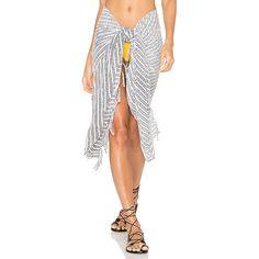 Indah Fringe Sarong (63 AUD) ❤ liked on Polyvore featuring swimwear, cover-ups, swim, swim sarong, fringe swimwear, swim cover ups, swim swimwear and sarong cover ups