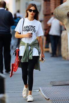 Alexa Chung leaving the gym