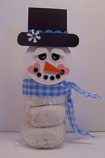 Breakfast snowman