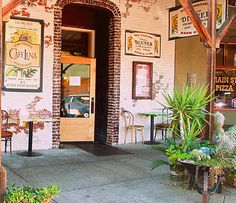 Luna's Cafe in Colfax, California. Love the antique brick and cool look of this place.