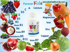 Give your kids the nutrients they need each day! Forever KIDS is nutritional supplements including multivitamins with Phytonutrients are highly desirable plant nutrients found in vegetables and fruits. Formulated without artificial colours or preservatives. Order at www.aloehealthus.flp.com