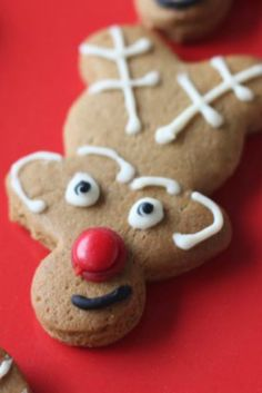 Hot tip: Turn your gingerbread men upside-down and make reindeer instead! The kids will LOVE getting in the kitchen to make these :)