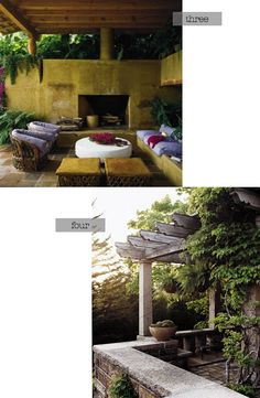 love both of these outdoor spaces...just need the homes to go with them ;)
