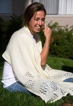 Lace Check Shawl Pattern | AllFreeKnitting.com