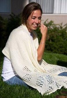 Lace Check Shawl Pattern   AllFreeKnitting.com
