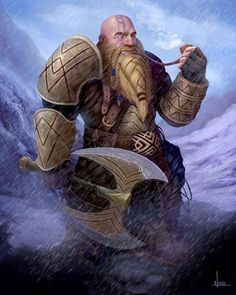 [OC] DnD inspired Dwarf I painted : DnD