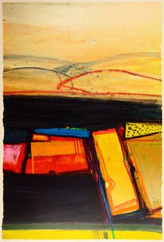 Buy art online- Yesnaby Gold- signed limited edition silkscreen print by British contemporary artist Barbara Rae from CCA Galleries, Free UK delivery Abstract Landscape Painting, Landscape Art, Landscape Paintings, Abstract Art, Abstract Paintings, Abstract Expressionism, Barbara Rae, Rise Art, Contemporary Artwork