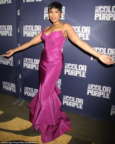 Purple reign: The singer and actress recovered quickly however, and looked stunning at the...