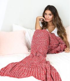 Red mermaid tail blankets are beautiful! Available now.