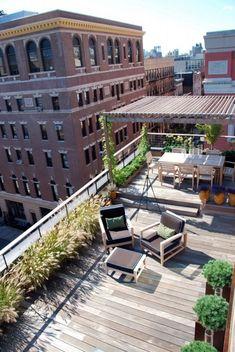 Pergola For Small Patio Code: 2370807773 Roof Terrace Design, Rooftop Design, Corner Pergola, Pergola Shade, Rooftop Terrace, Terrace Garden, Rooftop Lounge, Garden Pots, Terrasse Design