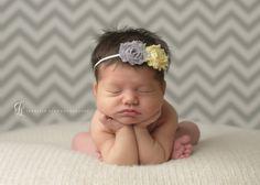Baby Headband - Shabby infant headbands - Baby Girl Headbands - Newborn headbands - Baby Hair Accessories - Toddler Hairbows. $7.95, via Etsy.