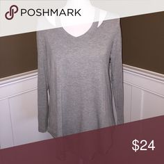 V Neck cut out long sleeve Super soft v Neck cut out long sleeve in gray Tops Tees - Long Sleeve