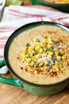 Mexican Street Corn Soup in bowl