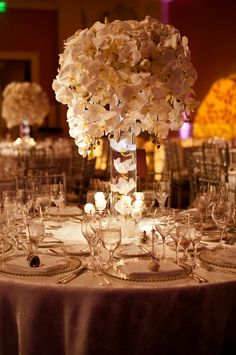 Tall White Wedding Centerpieces