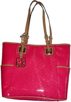 Women's Calvin Klein Purse Handbag Signature Logo Tote Passion Pink « Xquisite Beauty