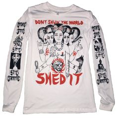 "COME TEES - LUNGFISH/DONOVAN LONGSLEEVE ""SHED THE WORLD"""