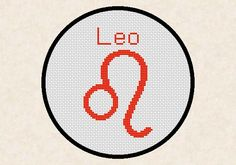 Leo Zodiac Horoscope Sign Easy Cross Stitch Pattern